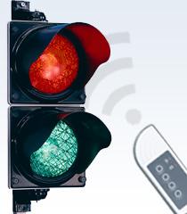 Signalgeber / Ampel mit Funkfernbedienung